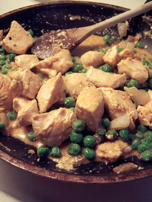 Curried Chicken with Peas - step 2