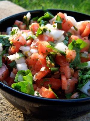 Tomato Spinach Salsa