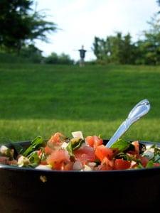Tomato Spinach Salsa - clear