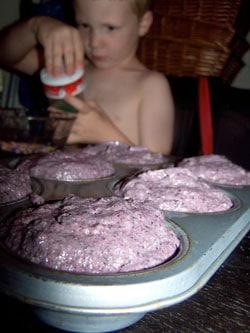 Upside Down Blueberry Mini Cakes