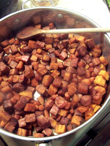 Ham and Sweet Potato Skillet - After