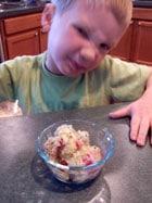 Ryan with kiwi pomegranate ice - 3