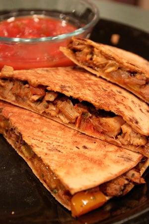 Leftover Turkey Quesadillas Panini Thing