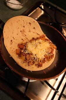 Leftover Turkey Quesadillas Panini Thing  step 1