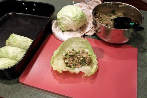 Stuffed Cabbage AKA Pigs in a Blanket - step 2
