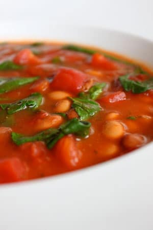 Spiced Up Tomato Soup with Pinto Beans