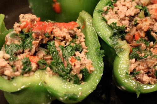 "The ""OMG I got them to eat Kale and Bulgur without one single complaint"" Stuffed Peppers! - inside"