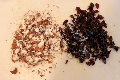 Chocolate Cherry Almond Vita-Loaf - chopped