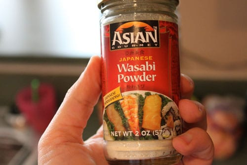 Wasabi Salmon with Asian Kale for One - wasabi powder