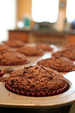 Double Chocolate BlueBran Muffins 2