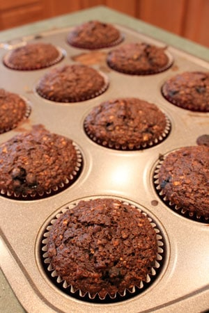 Double Chocolate BlueBran Muffins 3