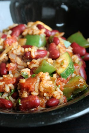 15 Minute Red Beans and Rice