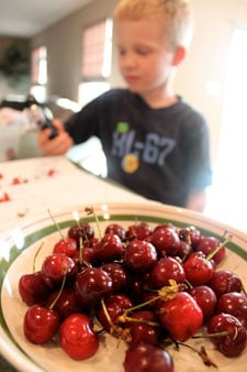 Grilled Chocolate and Cherries - the cherries