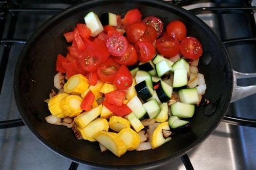 Skillet Veggie and Feta Tacos - step 2