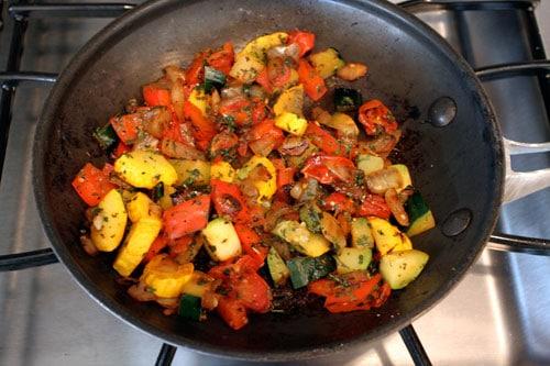 Skillet Veggie and Feta Tacos - step 5