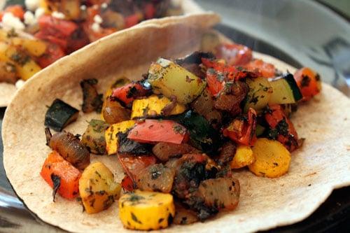 Skillet Veggie and Feta Tacos - step 6
