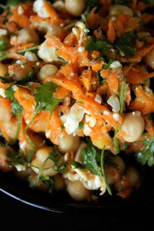 Cilantro, Lime and Chickpea Salad with Feta