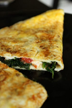 Feta Spinach Omelet