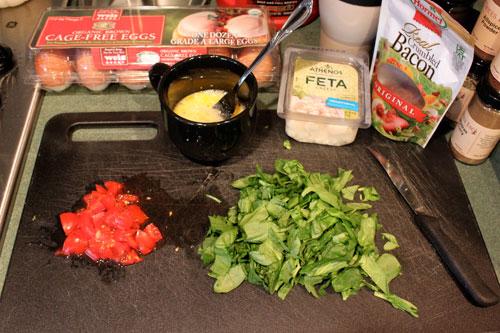Feta Spinach Omelet - station