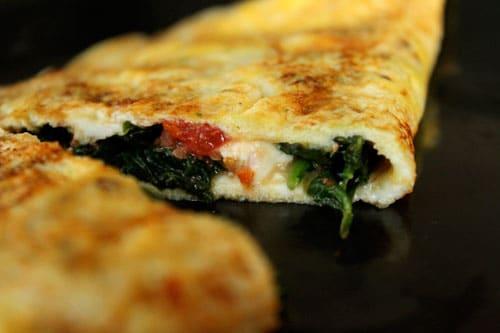 Feta Spinach Omelet - step 1
