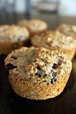 All Bran Cherry Almond Muffins
