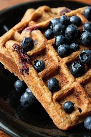 Whole Wheat Blueberry Pancake Waffles
