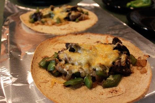 Cheesesteak Wraps Out of the oven