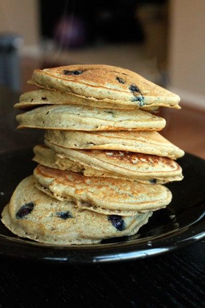 Whole Wheat Blueberry Pancake Waffles - Ryan