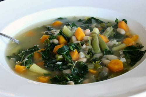 Fresh From the Farm Vegetable Soup with Leeks and Kale 2