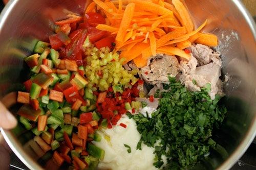 Spicy Garden Tuna Salad - ingredients