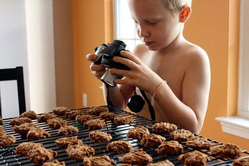 Vegan Pumpkin Oatmeal Cookies - taking pictures