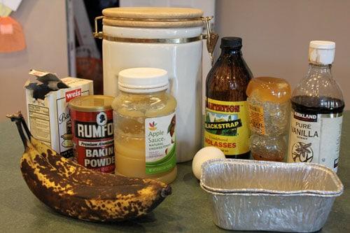 Mini Banana Bread Loaves - ingredients