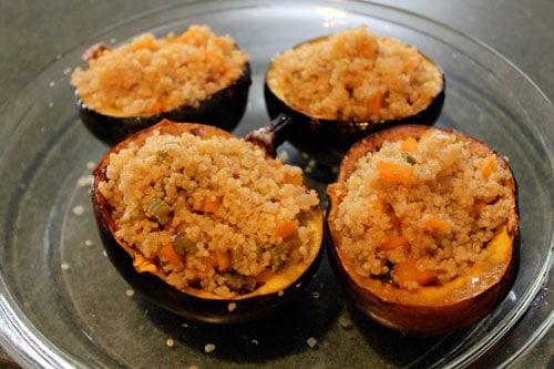 Acorn Squash Stuffed with Apple Cider Quinoa - stuffed