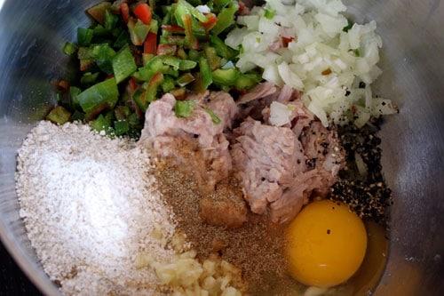 Simple Tuna Burgers - ingredients