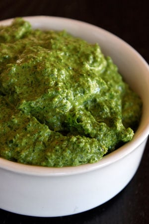 Spinach Arugula Pesto with Walnuts