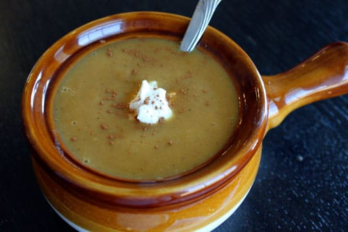 Curried Sweet Potato and Apple Soup - finsihed