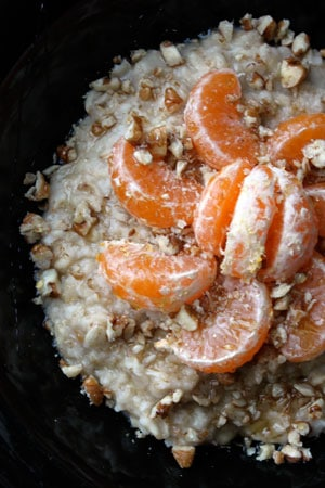 Tangerine Pecan Oatmeal