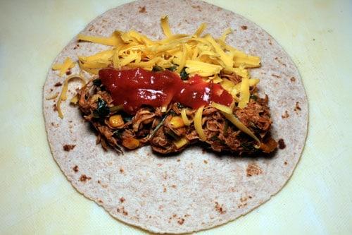 Leftover Turkey (or Chicken) Enchilada Filling - filling