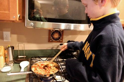Pantry Rice - cooking