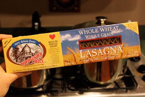 whole wheat lasagna noodles