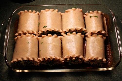 Turkey Spinach Lasagna Roll-ups  - done