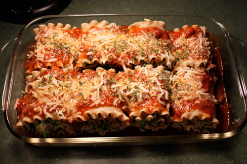 Turkey Spinach Lasagna Roll-ups  - before cooking