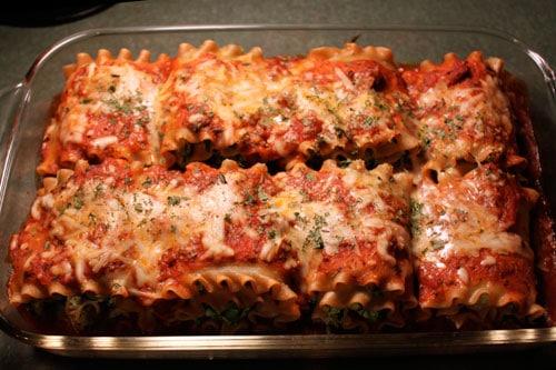 Turkey Spinach Lasagna Roll-ups  - after