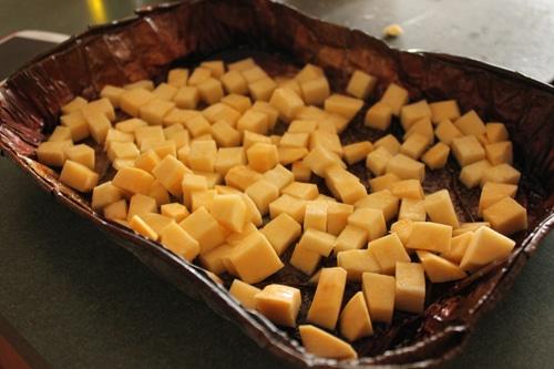 Cubed Rutabaga in Grill Pan