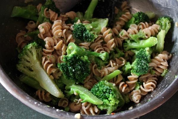 Finished Broccoli Pasta Salad