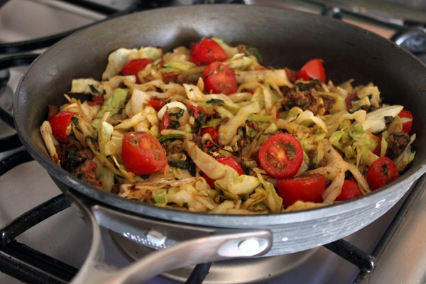 Warm Cabbage Taco Salad - Cooking step 2