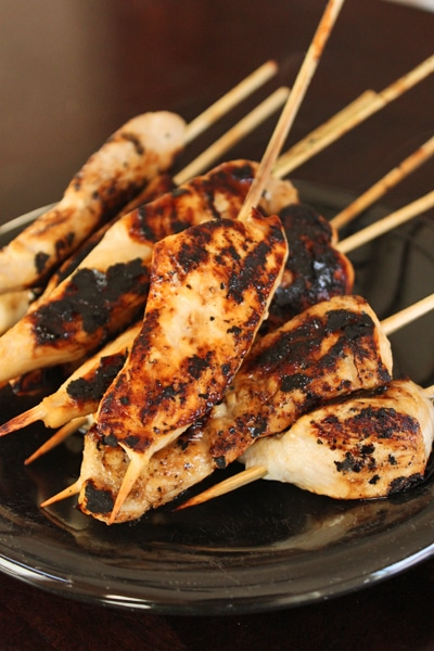 Maple Ginger Chicken on a Stick