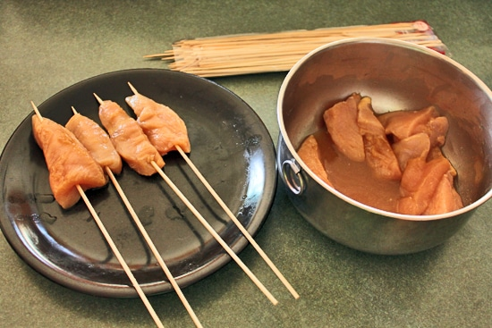 Maple Ginger Chicken on a Stick Step 2