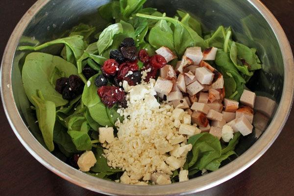 Super Spinach Salad - ingredients