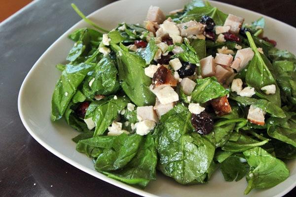 Super Spinach Salad - finished